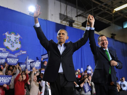 Of new jersey governor chris christie right during a rally in - Governors Big Wins For Republicans