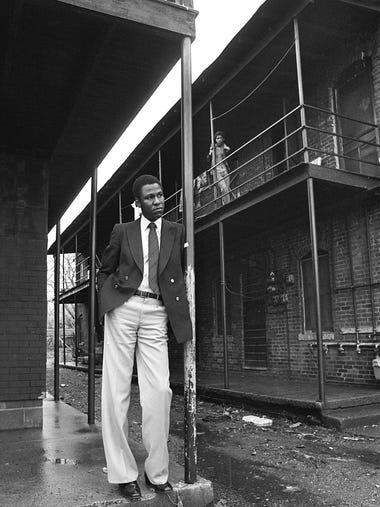 Willie W. Herenton stands on the steps of his childhood