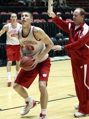 In this March 2012 photo, then-Wisconsin freshman Jarrod
