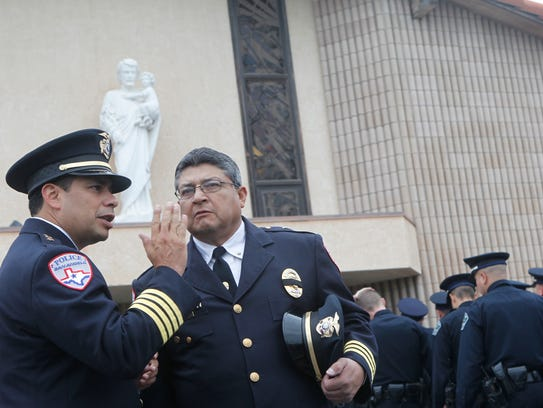 San Angelo Police Department Chief Tim Vasquez and