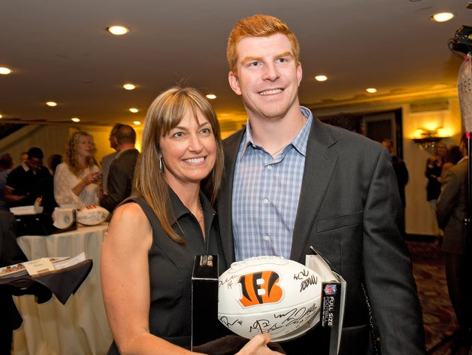 Julie Riggs of Indian Hill with Andy Dalton.