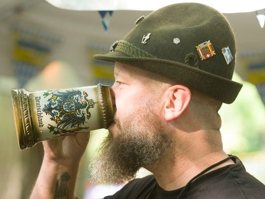 Enjoy a beer at one of the area's Oktoberfest celebrations.