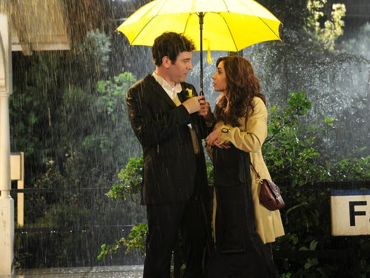 "Josh Radnor as Ted, Cristin Milioti as Tracy in the series finale of ""How I Met Your Mother."""