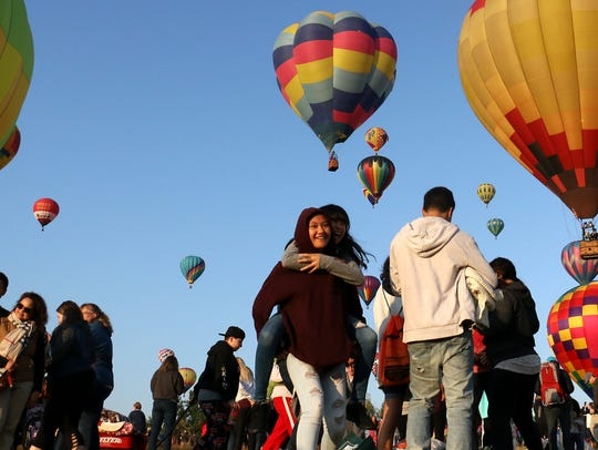 People enjoy the mass ascension during The Great Reno