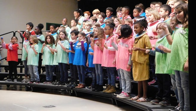Kate Sullivan second graders performed music from across the African continent.
