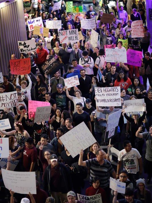 AP TRUMP PROTESTS LAS VEGAS A USA NV