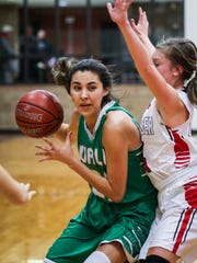 Wall's Sam Rocha dribbles the ball against Ballinger