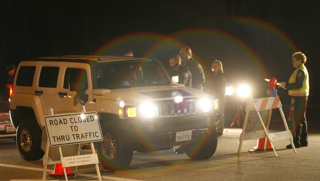 Palm Springs police will be conducting a DUI checkpoint somewhere in the city Friday night.