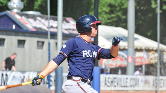 Roberson graduate Braxton Davidson is an outfielder for the Rome (Ga.) Braves.