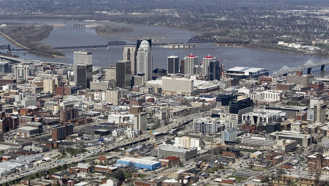 Downtown Louisville. (By Michael Clevenger, The Courier-Journal) March 26, 2010