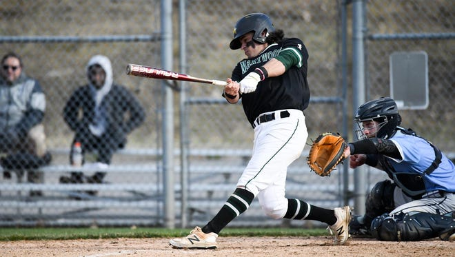 St. Elizabeth High graduate Trevor Powers takes a rip for Marywood College.