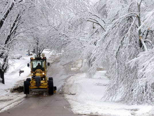 thursday ice storm snow cleanup