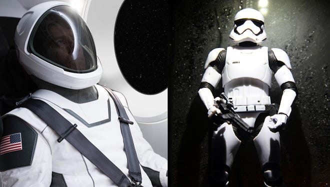 The new SpaceX space suit looks a little Stormtrooper--ish, am I right?