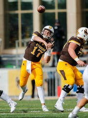 Wyoming quarterback Josh Allen hasn't lived up to his