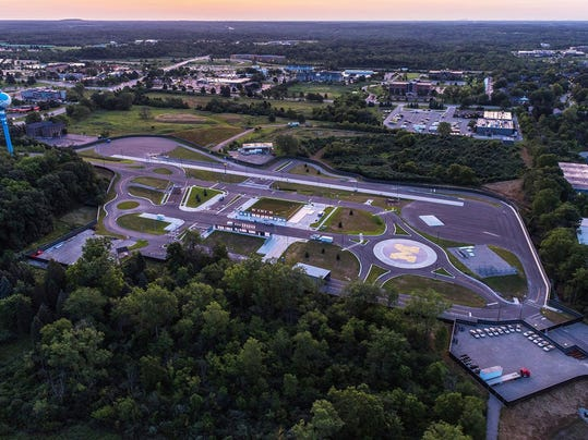 u-m-opens-mcity-test-environment-for-connected-and-driverless-vehicles-arial