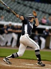 Brett Kinneman takes a swing for West York in May.