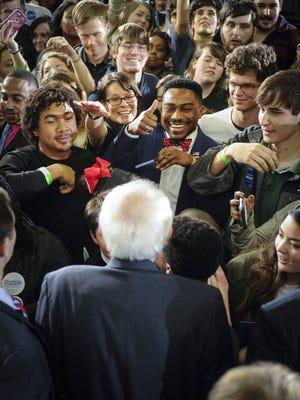 Bernie Sanders campaigns in Atlanta on Feb. 16, 2016.