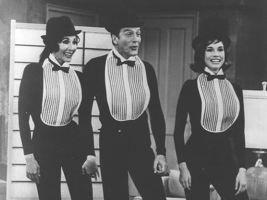 Sylvia Lewis, left, on 'The Dick Van Dyke Show'