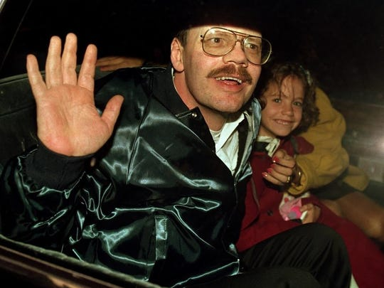Terry Anderson and his daughter Sulome following his 1991 release from captivity.