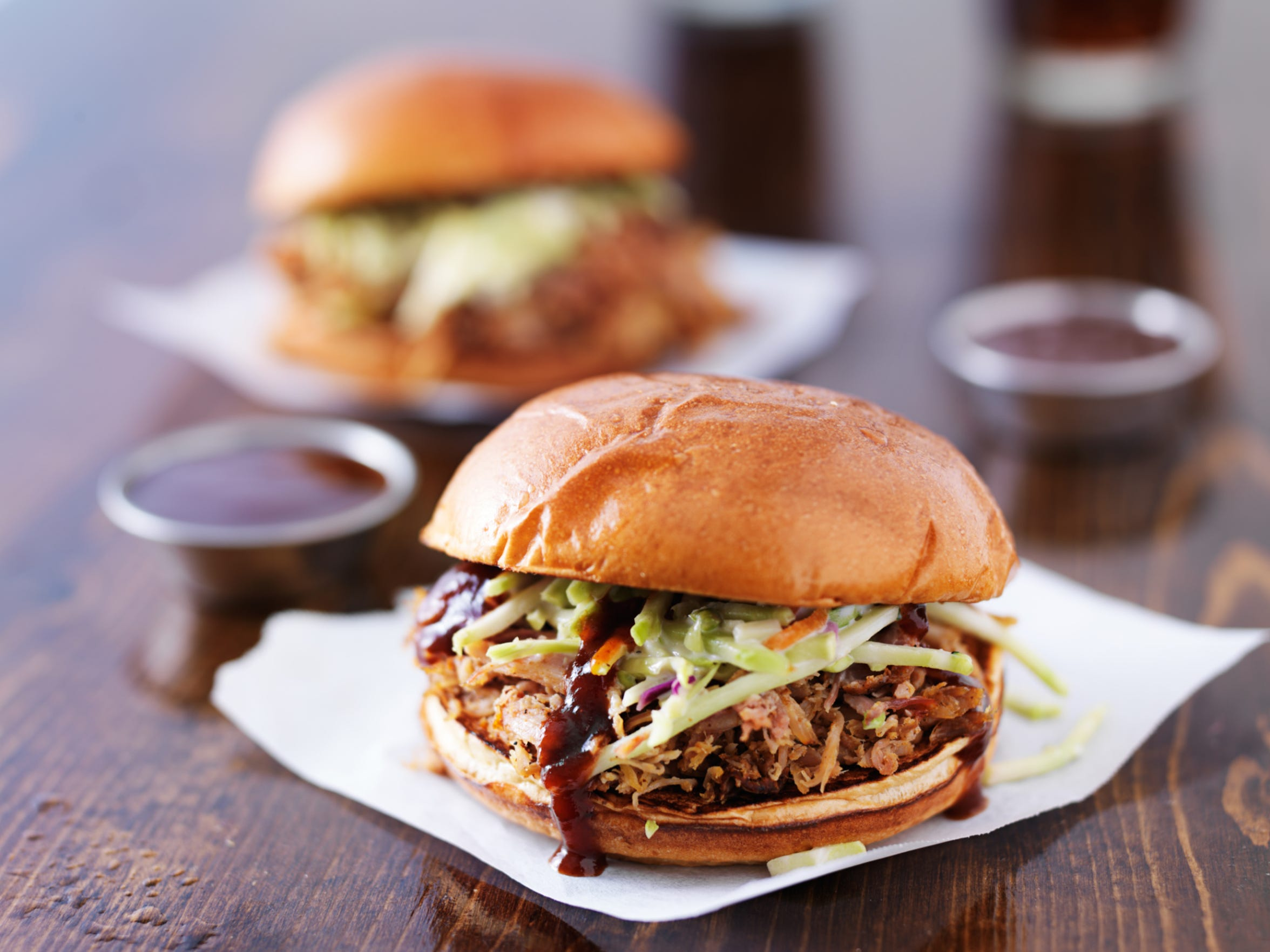 Cole slaw is the ideal pulled pork side -- or just add it directly to the sandwich.