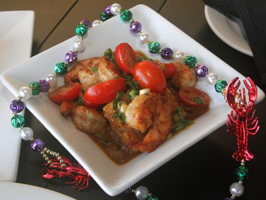 The Voodoo shrimp dish - sauteed shrimp with spicy