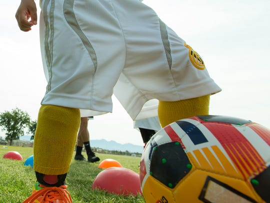 Campers of all ages gather to enhance their soccer