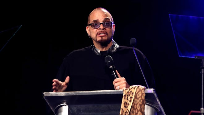 Comedian Sinbad speaks on stage during the 31st Annual NAMM Technical Excellence & Creativity (TEC) Awards. Sinbad will be in Battle Creek in April.