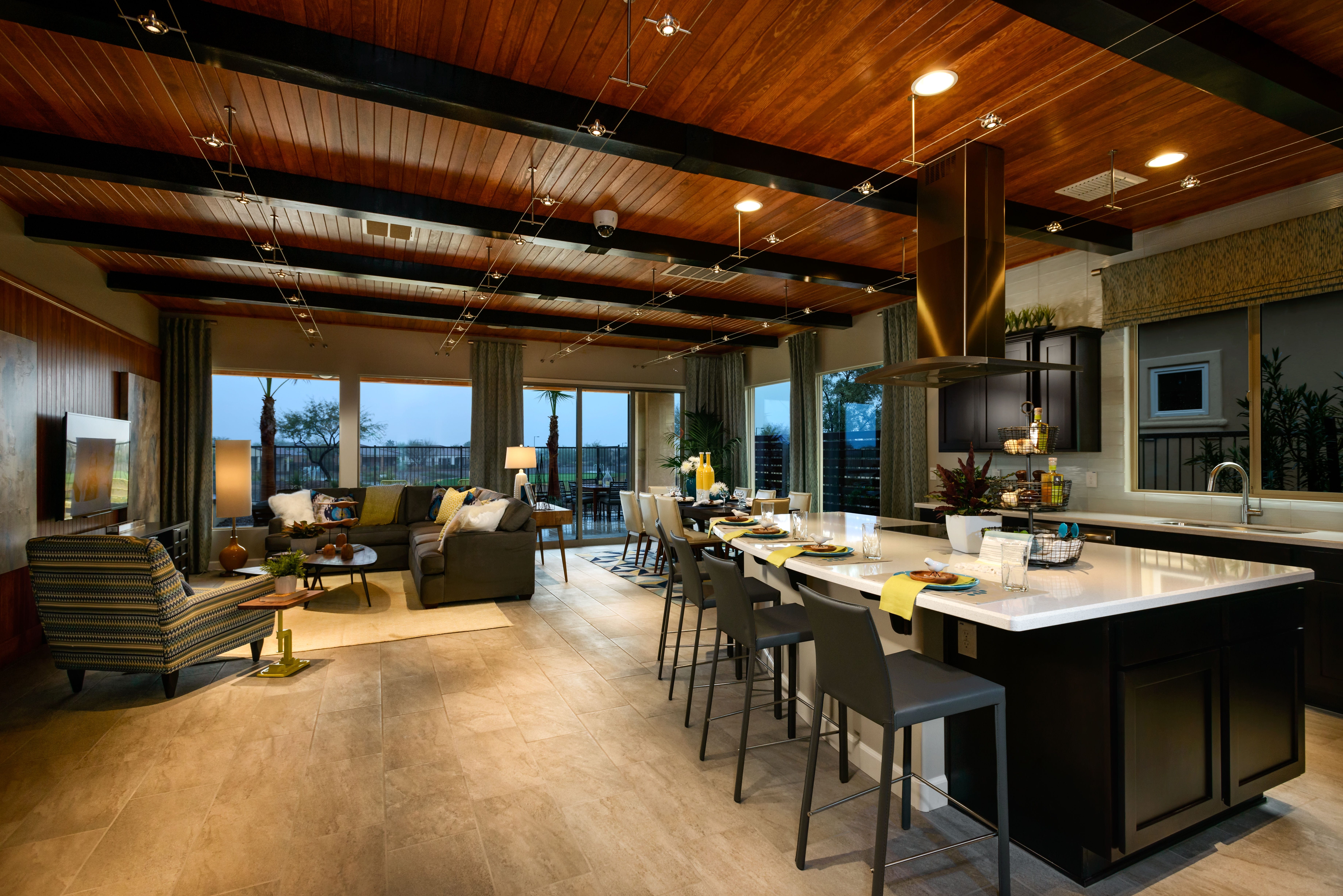 New modern style homes at trilogy in peoria for Contemporary model homes