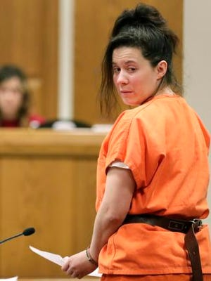 Tina M. Hafeman was sentenced to eight years on  in prison on Friday, Feb. 3, 2017 in the stabbing death of her husband. Hafeman, 35, was convicted in December in Outagamie County court of first-degree reckless homicide in the death of her husband, Chad A. Hafeman, 35. Outagamie County Judge John Des Jardins also sentenced Hafeman to four years of extended supervision.