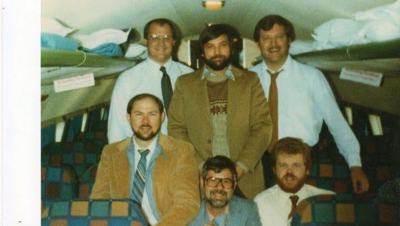 "The original group of ""Georgia Boys"" on their way to"