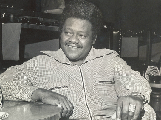 Fats Domino sits for an interview with the Evansville Press in 1976 ahead of his New Year's Eve show.