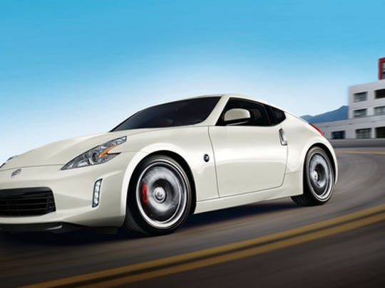 A white Nissan 370Z sports car