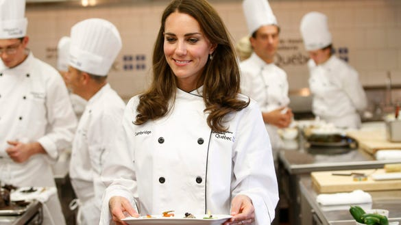 Duchess Kate cooking