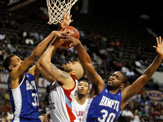 NCAA Basketball: MEAC Conference Tournament-Hampton vs Delaware State