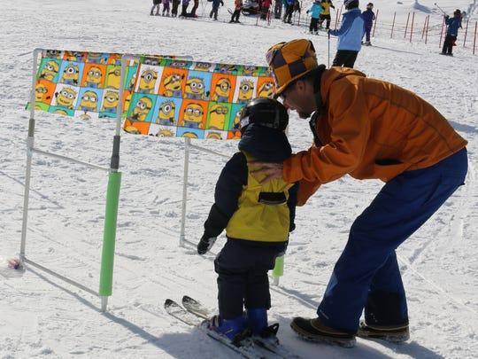 Ski lessons at Sky Tavern.