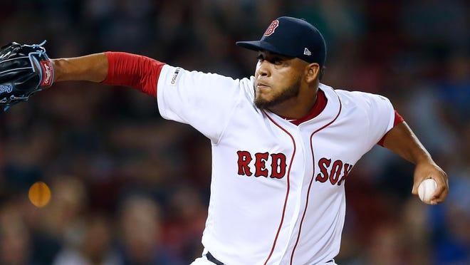 Darwinzon Hernandez is one of three Red Sox pitchers battling COVID-19.