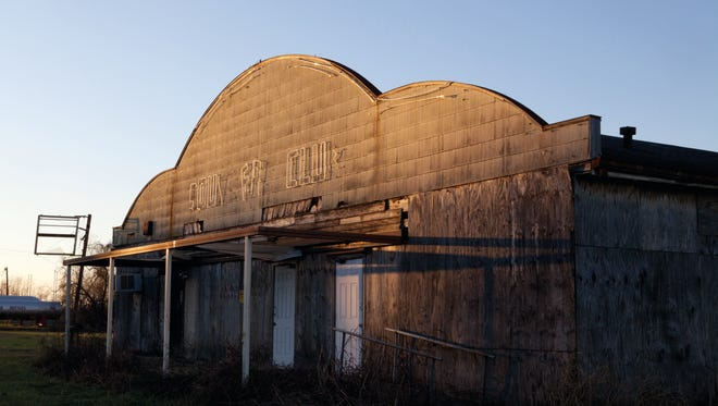 The sunlight fades on the Southern Club in Opelousas, which is among the historic dancehalls disappearing from south Louisiana;s landscape.