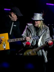 Robin Zander and Rick Nielsen of Cheap Trick performs