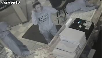 Millville police want to find the man and woman in this video in connection with a stolen credit card that the female in the image tried to use it at a bar.