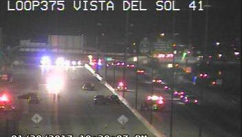 A young girl was injured in a three-vehicle collision Monday on Loop 375 in far East El Paso.