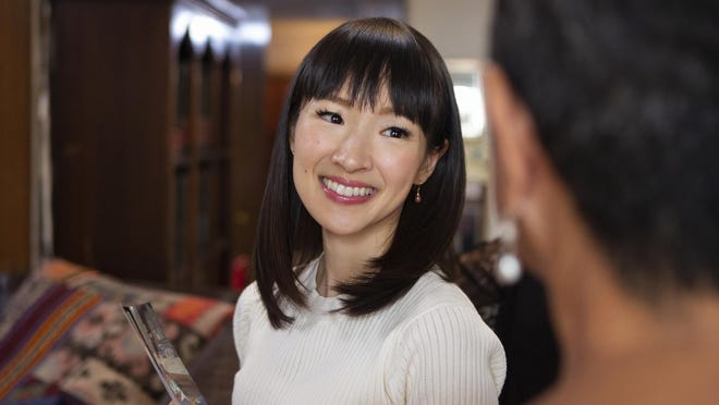 """Marie Kondo in a scene from """"Tidying Up with Marie Kondo,"""" which airs on Netflix."""