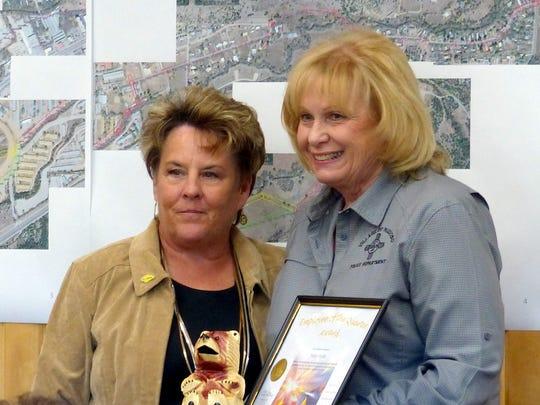 Nancy Smith, records secretary for the Ruidoso police,