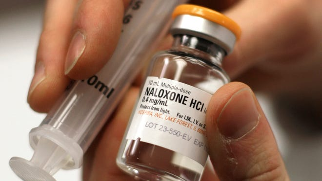 This is a vial of naloxone. It is commonly used to treat heroin overdoses.