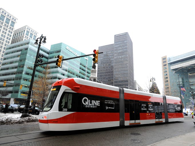 The QLine streetcar now runs on its own power just