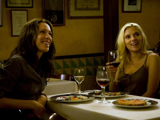 Rebecca Hall, left, and Scarlett Johansson star in