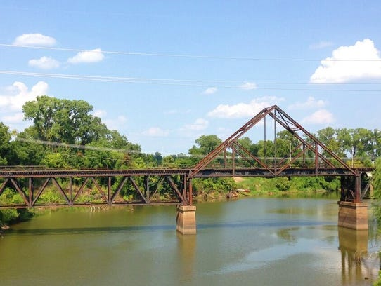 """The """"A"""" Truss Bridge in Shreveport."""