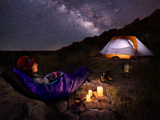 """Desert Stargazing"" is one of countless images the Las Cruces photographer and builder has made of the Organ Mountains-Desert Peaks."