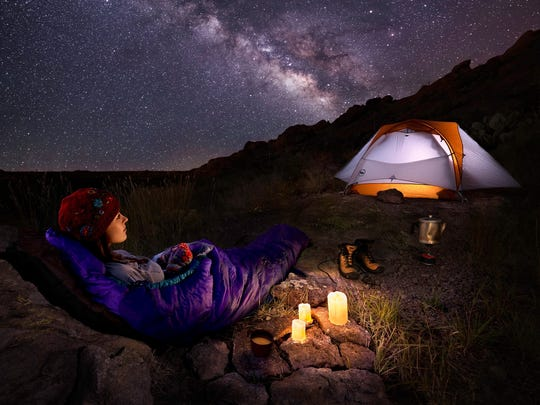 """""""Desert Stargazing"""" is one of countless images the Las Cruces photographer and builder has made of the Organ Mountains-Desert Peaks."""