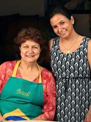 Valquiria  Fernandes, left, and her niece Camilla Roberts in Goodyear.