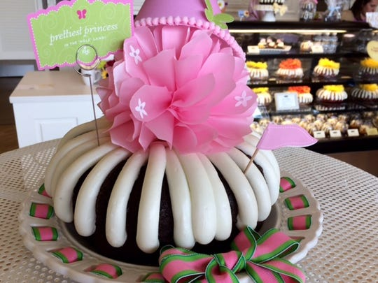 A decorated cake at Nothing Bundt Cakes.